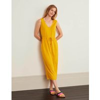 Helen Linen Midi Dress Yellow Women Boden, Yellow