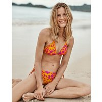 String Bikini Top Pop Pansy, Tropical Bloom Women Boden, Pop Pansy, Tropical Bloom