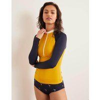Boden Zip Up Rash Vest Yellow Women Boden, yellow