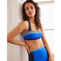 Santorini Bikini Top Bold Blue Colourblock Women Boden, Bold Blue Colourblock