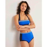 Santorini High Bikini Bottoms Bold Blue Colourblock Women Boden, Bold Blue Colourblock