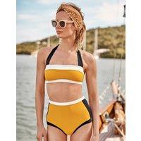 Santorini High Bikini Bottoms Yellow Women Boden, Yellow