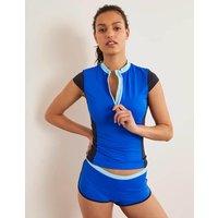 Boden Tilos Short Sleeve Rash Vest Blue Women Boden, Blue