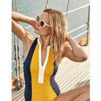 Boden Kos Zip Up Swimsuit Yellow Women Boden, yellow
