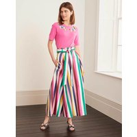 Brooke Belted Skirt Multi Women Boden, Blue