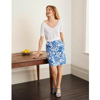 Lathbury Linen Mini Skirt Blue Women Boden, Blue