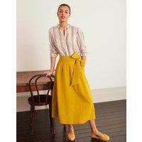 Demelza Midi Skirt Yellow Women Boden, Yellow