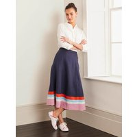 Willa Button Midi Skirt Navy Women Boden, Navy