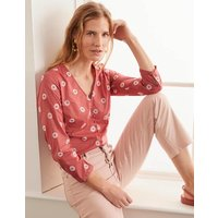 Diana Embroidered Top Red Women Boden, Red