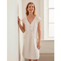 Leandra Embroidered Dress White Women Boden, White