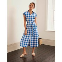 Cassidy Linen Dress Blue Women Boden, Blue