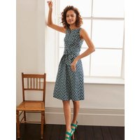 Mischa Belted Dress Navy Women Boden, Navy