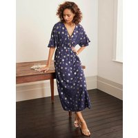 Rosie Maxi Dress Navy Women Boden, Gold