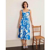 Juniper Midi Dress Blue Women Boden, Blue