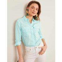 Faye Shirt Blue Women Boden, Blue