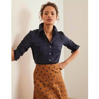 Faye Shirt Navy Women Boden, Navy