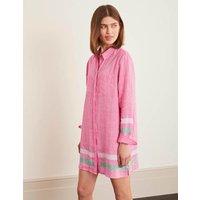 Lisbon Linen Tunic Pink Women Boden, Camel