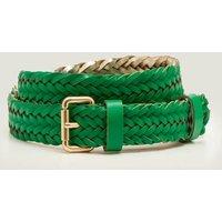 Woven Leather Belt Green Women Boden, Green