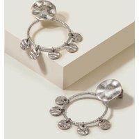 Boden Beaded Disc Earrings Silver Women Boden, Silver