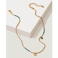 Beaded Necklace Green Women Boden, Gold