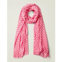 Boden Printed Scarf Pink Women Boden, Camel