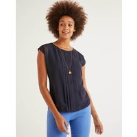 Dakota Jersey Top Navy Christmas Boden, Navy