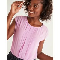 Dakota Jersey Top Purple Christmas Boden, Pink