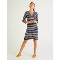 Bronte Ottoman Dress Navy Women Boden, Navy