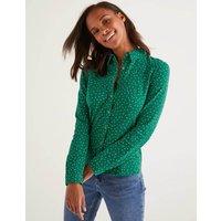 Tara Jersey Shirt Green Women Boden, Green