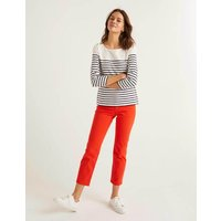 Boden Heather Jersey Breton Ivory Women Boden, Navy
