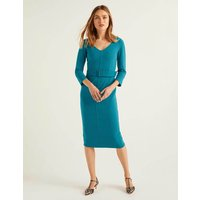 Margie Ottoman V-neck Dress Blue Women Boden, Blue