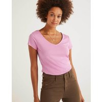 Boden Supersoft Cap Sleeve Tee Purple Women Boden, Pink