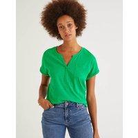 The Cotton Turn Up Cuff Tee Green Women Boden, Green