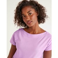 Supersoft Slash Neck Tee Purple Women Boden, Pink