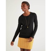 Eldon Cotton Jumper Black Women Boden, Black