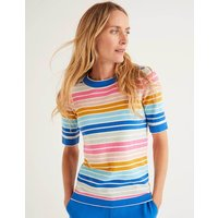 Abingdon Cotton Knitted Tee Multi Women Boden, Multicouloured