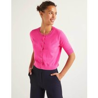 Favourite Cotton Crop Cardigan Pink Women Boden, Multicouloured