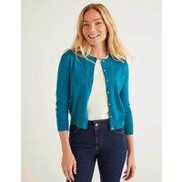 Eldon Cotton Crop Cardigan Blue Women Boden, Blue