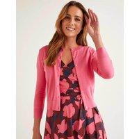 Eldon Cotton Crop Cardigan Pink Women Boden, Camel