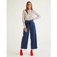 Boden Paperbag Wide Leg Jeans Denim Women Boden, Denim