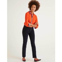Cord Slim Straight Jeans Navy Women Boden, Navy