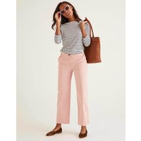 Daisy Cropped Chino Trousers Chalky Pink Women Boden, Chalky Pink