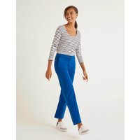 Daisy Cropped Chino Trousers Bold Blue Women Boden, Bold Blue