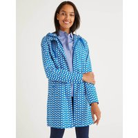 Lawrence Waterproof Raincoat Bold Blue Ticker Women Boden, Bold Blue Ticker