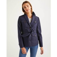 Aiton Tie Waist Jacket Navy Women Boden, Navy