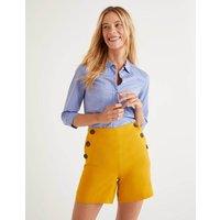 Falmouth Linen Shorts Tuscan Sun Women Boden, Tuscan Sun
