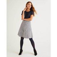 Catherick Textured Mini Skirt Blue Women Boden, Blue