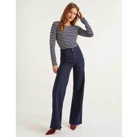 Boden Front Line Wide Leg Jeans Denim Women Boden, Indigo