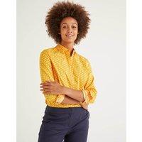 Modern Classic Shirt Yellow Women Boden, Yellow