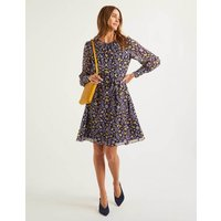 Blossom Dress Navy Women Boden, Navy